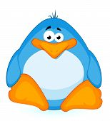 cartoon little penguin