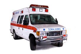 foto of ambulance  - type 2 ambulance van isolated on white background - JPG