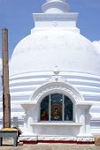 Buddha In White Stupa