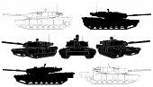 Military Tank Vector
