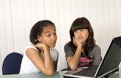 Teenagers On Laptop
