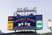 Boston - May 30: One Of Three New High Definition Video Scoreboards Added For 2011 Season At Fenway