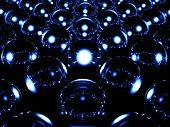 Glass Sphere Illuminates Other Spheres