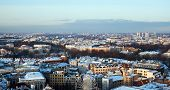 View Of Central Part Of The City Riga In The Winter