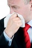 Businessman Suffering From Rhinitis Or Allergy