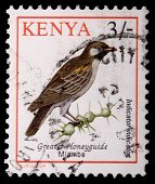 A 3-schilling Stamp Printed In Kenya