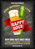 Happy Hour Poster Template poster