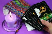 Tarot Cards In Hand