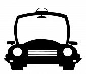 Police Cartoon Silhouette Car