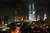 Kuala Lumpur City Night Scene