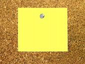 Yellow Note On Cork Board
