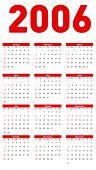 Vector calendar 2006