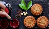 Vietnamese Sweet Food, Moon Cake poster