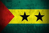 Weathered Flag Of Sao Tome and Principe, fabric textured