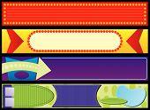 Retro Advertising Web Banners