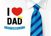 I Love You Dad, Happy Father`s Day Lettering Background. Fathers Day Calligraphy Banner With With Re poster