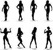 fitness posing silhouette