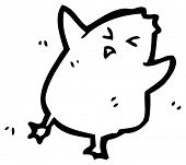 dancing chick cartoon