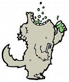 big bad wolf cartoon (raster version)