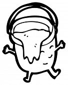 clumsy bucket cartoon character