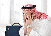 Worried arabic businessman