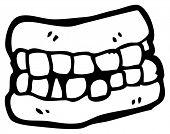 valse tanden cartoon