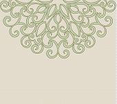 Elegant Vintage Greeting Card With Graceful Ornament. Design Element For Wedding Invitation Or Annou poster