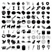 foto of baby spider  - Vector Illustrations of 100 Icons including pets - JPG