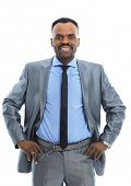 Smiling Afro-American businessman