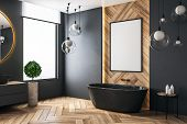 Modern Bathroom With Poster poster