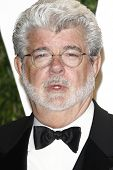 LOS ANGELES - FEB 26:  George Lucas arrives at the 2012 Vanity Fair Oscar Party  at the Sunset Tower