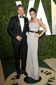 LOS ANGELES - FEB 26:  David Beckham; Victoria Beckham arrive at the 2012 Vanity Fair Oscar Party  a