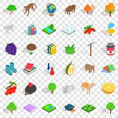 Zoology Icons Set. Isometric Style Of 36 Zoology Vector Icons For Web For Any Design poster