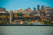 Salvador, Bahia, Brazil: Beautiful Landscape With City View. Houses, Skyscrapers, Bay, Port And Ligh poster