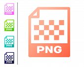 Coral Png File Document Icon. Download Png Button Icon Isolated On White Background. Png File Symbol poster