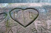 heart carved in stone