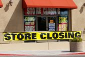 Store Closing And Going Out Of Business Signs Displayed At A Soon To Be Closed Store I poster