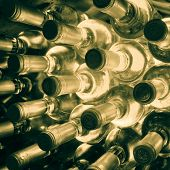 foto of wine bottle  - stacked up wine bottles in the wine cave - JPG