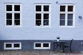 Ebeltoft Street Cafe Brick Wall