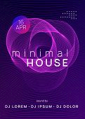 Trance Event. Commercial Discotheque Brochure Template. Dynamic Gradient Shape And Line. Neon Trance poster