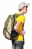 A Teenager With A Sporty Backpack