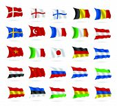 world flags vector on white
