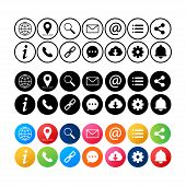 Simple Web Icons Set. Universal Web Icon To Use In Web And Mobile Ui, Set Of Basic Ui Web Elements.  poster
