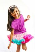 Ethnic Little Girl Dancing