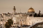 The Western Wall, also known at the Wailing Wall or Kotel, is the remnant of the ancient wall that s