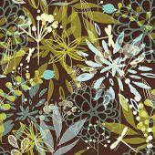 Постер, плакат: Красивая акварель стиль цветочный фон
