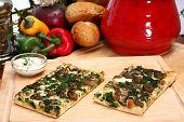 Spinach And Portobello Mushroom Pizza