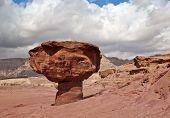 Monument of desert- Mushroom ,Timna park ,25km from Eilat, Israel