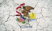Flag Of The State Of Illinois,  State In The Midwestern And Great Lakes Region Of The United States, poster