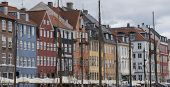 View Of Nyhavn Quay With Colored Buildings, In The Old Town Of Copenhagen City poster